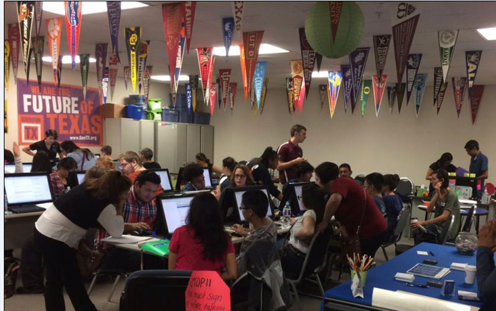 FAFSA completion event in Austin.