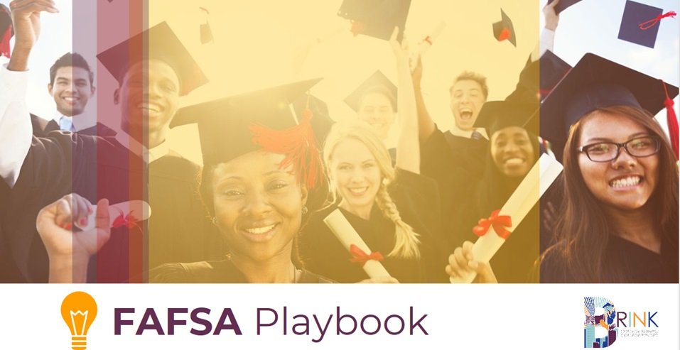 The cover page of Brink's FAFSA Playbook for students.
